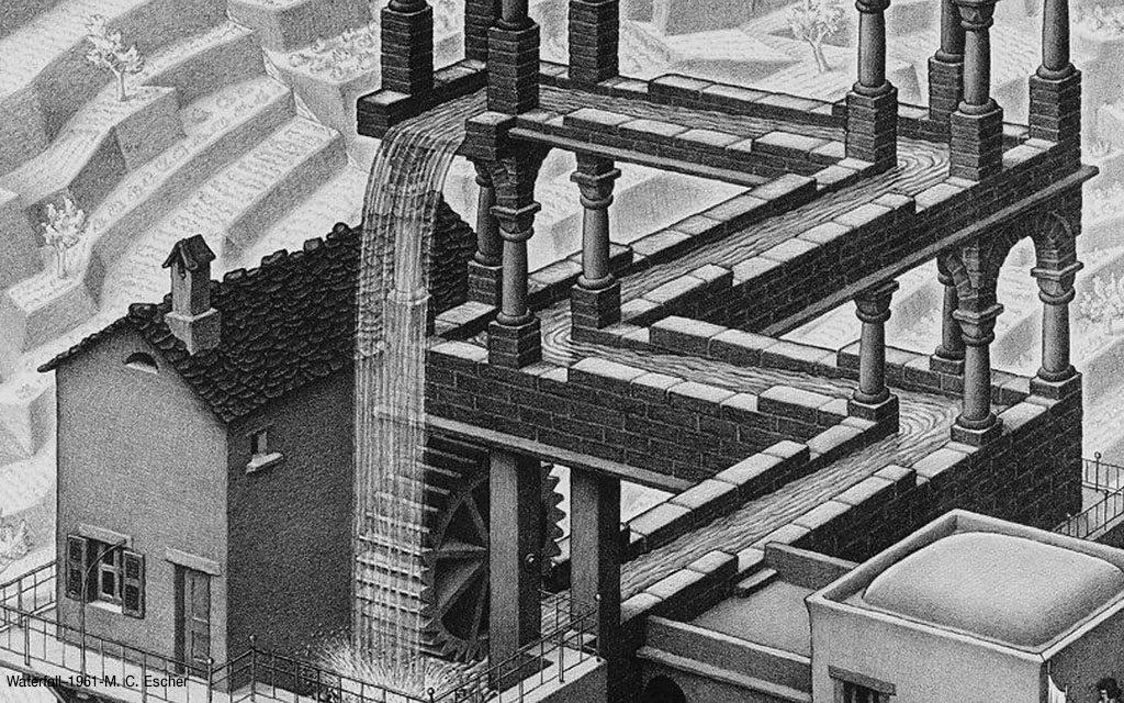 Waterfall–1961-M. C. Escher